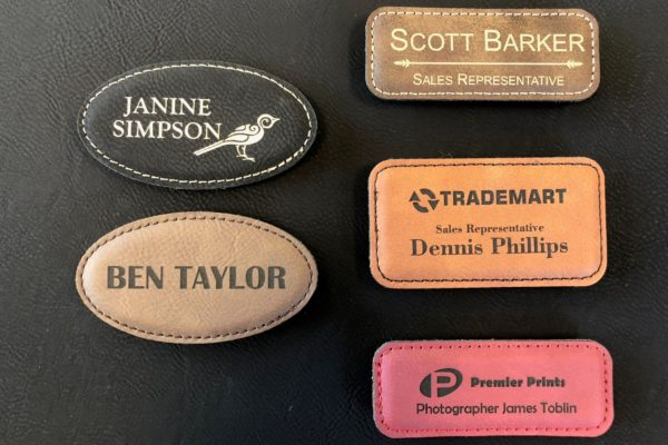 Leather Nametags 1
