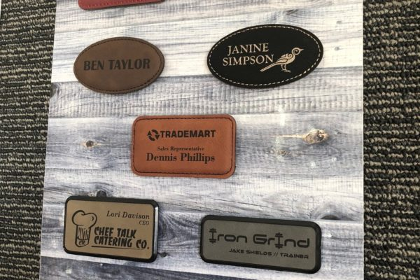 Leather Nametags
