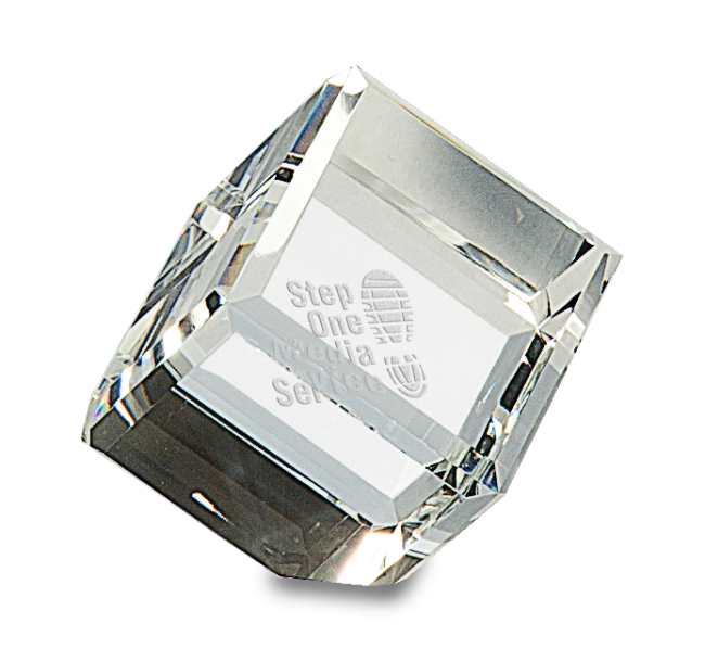 crystal awards cube